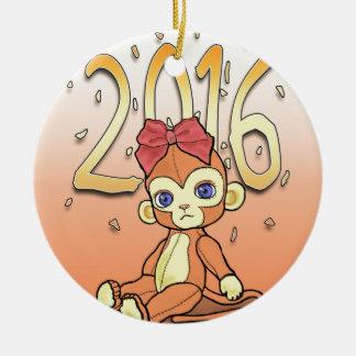 かわいいPlushie 2016年のNewYear少し猿 セラミックオーナメント