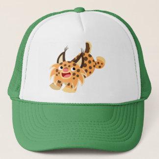 かわいいPrankish漫画のボブキャットの帽子 キャップ