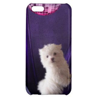 かわいいPuppie犬のディスコのダンス iPhone5Cケース