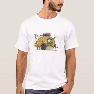 かわいいRVのヴィンテージの涙のキャンピングカー旅行トレーラー Tシャツ