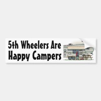 かわいいRVのヴィンテージの第5車輪のキャンピングカー旅行トレーラー バンパーステッカー