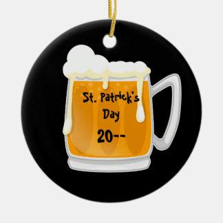 かわいいSt patricks dayビールデザイン セラミックオーナメント