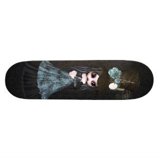 かわいいSteampunkのゴシックの女の子の黒のスケートボード 20cm スケートボードデッキ