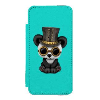 かわいいSteampunkのベビーのパンダの小熊 Incipio Watson™ iPhone 5 ウォレット ケース
