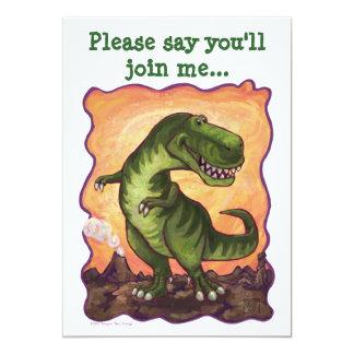 かわいいTレックスの恐竜の誕生会の招待 カード