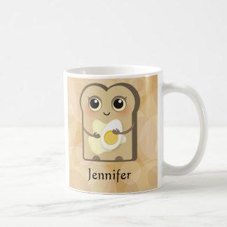 かわいいToasties -バターおよび卵 コーヒーマグカップ