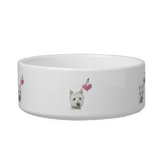 かわいいWestie犬のペットボウル ボウル