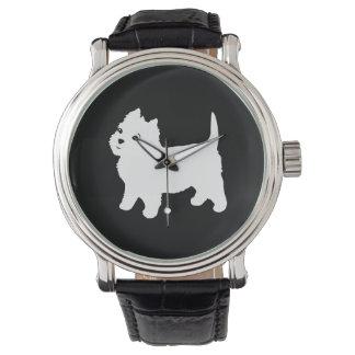 かわいいWestie -ウエスト・ハイランド・ホワイト・テリア 腕時計