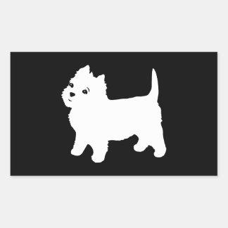 かわいいWestie -ウエスト・ハイランド・ホワイト・テリア 長方形シール