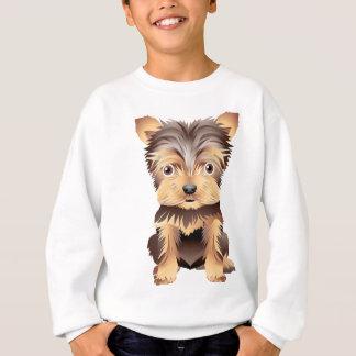 かわいいYorky犬の服装のTシャツ スウェットシャツ
