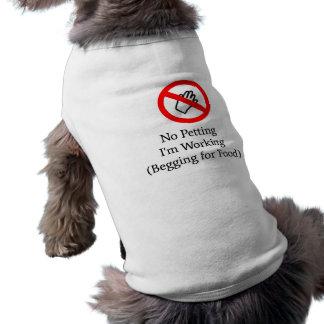 """""""かわいがること、私は""""犬のTシャツを働かせていません ペット服"""