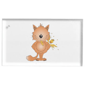 かわいくいけない子猫猫の漫画および友人 テーブルカードホルダー