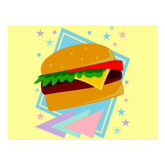 かわいくおいしいハンバーガー ポストカード