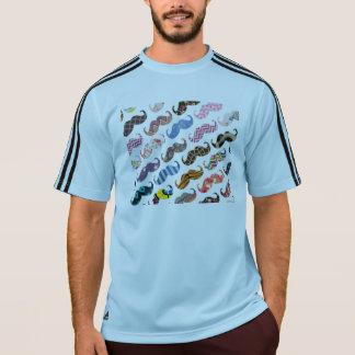 かわいくおもしろいでカラフルな髭パターン Tシャツ