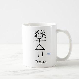 かわいくおもしろいで一般的な先生の棒の姿の漫画 コーヒーマグカップ