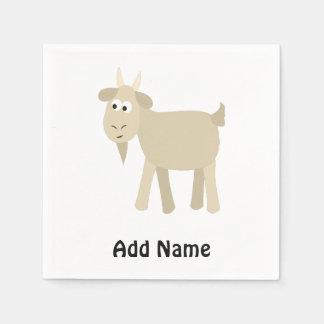 かわいくおもしろいで小さいヤギ スタンダードカクテルナプキン