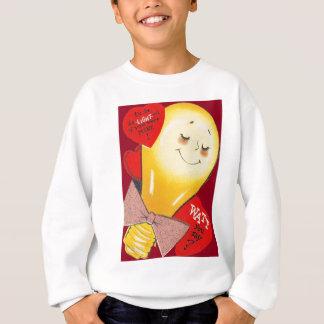 かわいくおもしろいで風変わりな電球のハートのバレンタイン スウェットシャツ