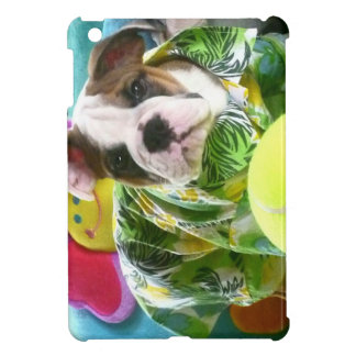 かわいくおもしろいで、愛らしい英国のブルドッグの子犬 iPad MINI CASE