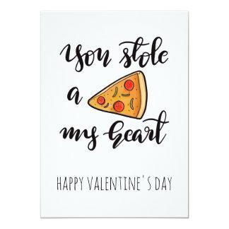 かわいくおもしろいなピザバレンタインデー カード