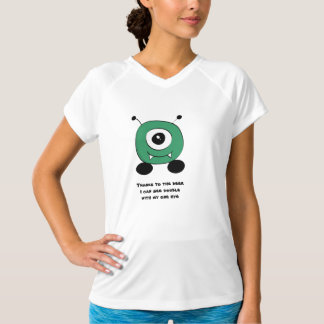 かわいくおもしろいな緑のエイリアン Tシャツ