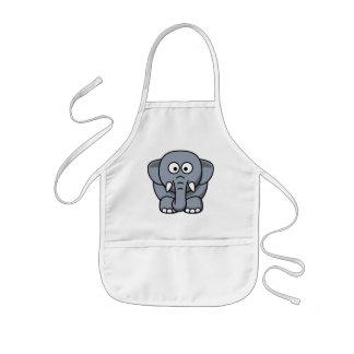 かわいくおもしろいな象 子供用エプロン