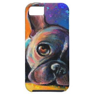 かわいくお洒落なフレンチ・ブルドッグ犬の子犬Novikova iPhone SE/5/5s ケース
