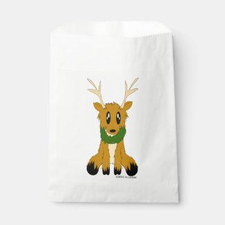 かわいくだらしないクリスマスのトナカイの好意のバッグ フェイバーバッグ