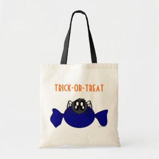 かわいくだらしないハロウィンのくものトリックまたは御馳走バッグ トートバッグ