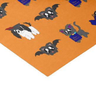 かわいくだらしない動物のハロウィン場面ティッシュペーパー 薄葉紙