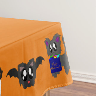 かわいくだらしない動物のハローウィンパーティのテーブルクロス テーブルクロス