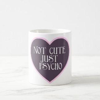 かわいくないちょうど精神分析のピンク+暗い紫色のマグ コーヒーマグカップ