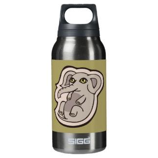 かわいくよくはしゃぐな灰色のベビー象のスケッチのデザイン 断熱ウォーターボトル