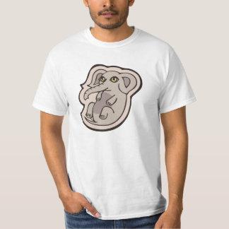 かわいくよくはしゃぐな灰色のベビー象のスケッチのデザイン Tシャツ
