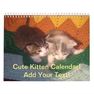 かわいくカスタマイズ可能な子ネコのカレンダー カレンダー