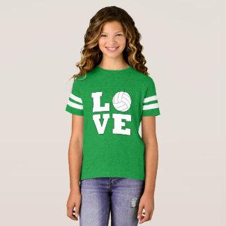 かわいくカスタムな色のバレーボール愛はジャージーを遊ばします Tシャツ