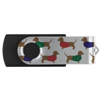 かわいくカラフルなダックスフント犬、USBのフラッシュドライブ USBフラッシュドライブ