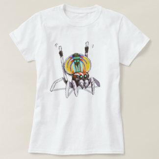 かわいくカラフルな孔雀のくものスケッチの芸術のワイシャツ Tシャツ