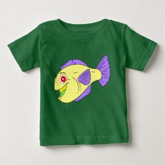 かわいくカラフルな漫画の魚 ベビーTシャツ