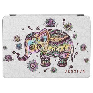 かわいくカラフルな花の赤ん坊象の絵 iPad AIR カバー