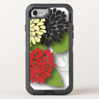 かわいくガーリーで抽象的な花 オッターボックスディフェンダーiPhone 8/7 ケース
