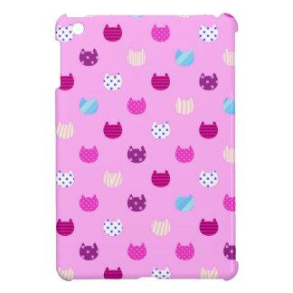かわいくガーリーなかわいい猫の光沢のあるIpadの小型場合 iPad Mini カバー