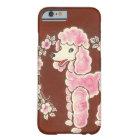 かわいくガーリーなピンクのプードル犬 BARELY THERE iPhone 6 ケース
