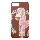 かわいくガーリーなピンクのプードル犬 iPhone 8/7ケース