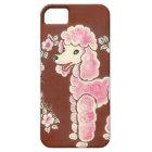 かわいくガーリーなピンクのプードル犬 iPhone SE/5/5s ケース
