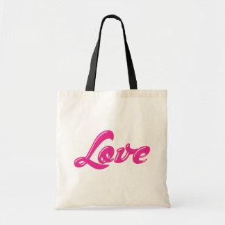 かわいくガーリーなピンク愛赤紫のキャンバスTotebag トートバッグ