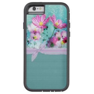 かわいくガーリーな水玉模様、咲く花 TOUGH XTREME iPhone 6 ケース