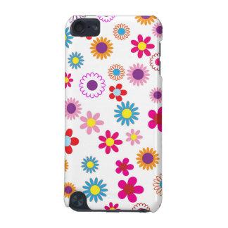 かわいくガーリーな花のデザイン iPod TOUCH 5G ケース
