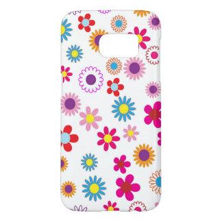 かわいくガーリーな花のデザイン SAMSUNG GALAXY S7 ケース