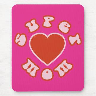 かわいくフェミニンで及びガーリーなお母さん: 極度のお母さん + ハート マウスパッド