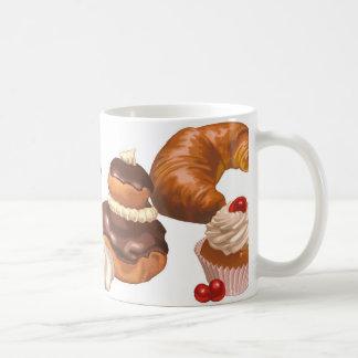 かわいくフランスのなペストリー コーヒーマグカップ